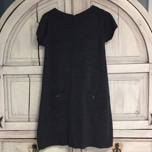 Evan Picone short sleeve gray sweater dress